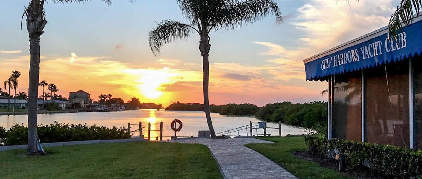 Sunset at Gulf Harbors Yacht Club