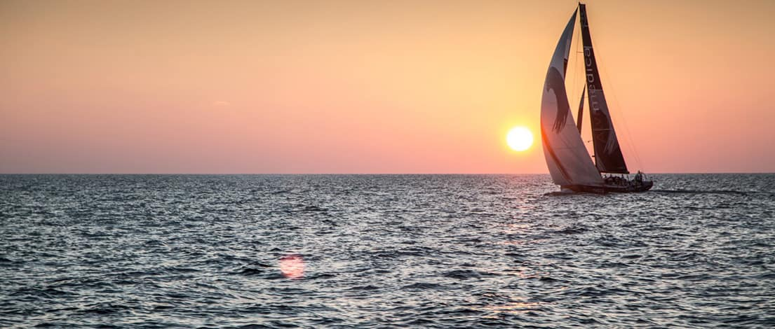 Sailing into the Sunset on the Gulf of Mexico